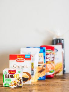 Bodegón vasito benefit, quinoa Lassie