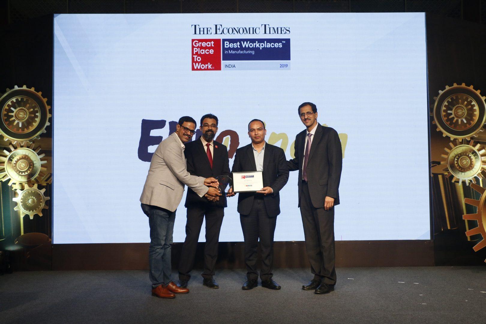 Ebro India se posiciona entre las 25 mejores empresas de fabricación en India